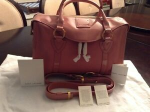 Marc Jacobs Fulton Leather/ Patent TRIM  Color Pink Rose