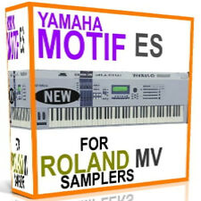 YAMAHA MOTIF ES SAMPLES ROLAND MV8800 MV8000 MV 8800 MV 8000 Sounds 5 DVDS 15 GB