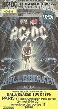 RARE / TICKET DE CONCERT - AC/DC AC / DC  LIVE A PARIS 1996 /COMME NEUF LIKE NEW