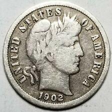 New listing 1902-S 10C Barber Silver Dime Fine