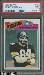 1977 Topps #159 Randy Grossman Pittsburgh Steelers PSA 9 MINT