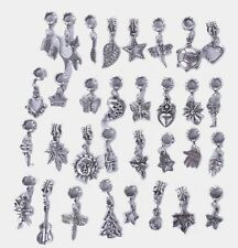 30PCS Mixed Design of Antiqued Silver Bail W/Charm Danglers