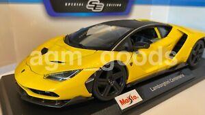 Maisto 1:18 Scale - Lamborghini Centenario - Yellow - Diecast Model Car