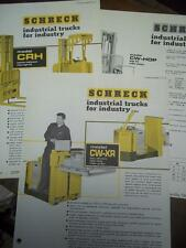Shreck Industrial Truck Brochure Inserts~CRH/CW-XR/CW-HOP~Specifications