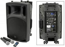 QTX 178.853 Portable PA System Remote Control & 2x Wireless Microphones Included
