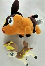 Tepig Pokemon Center 2010 & Yellow Deerling 2011 Banpresto Plush Stuffed Animal