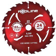 "185mm (7-1/4"") TCT Circular Saw Blade 24 teeth wood cutting tungsten carbide"