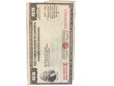 $25.00 U.S.War Savings Bond