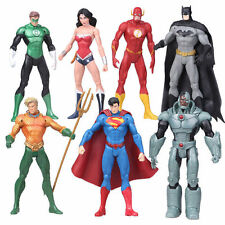 7x Justice League Action Figure Set Superman Batman Flash Wonder Woman Aquaman