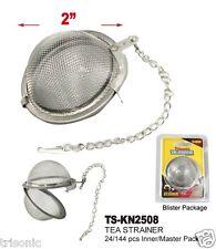 "Tea Infuser Ball Mesh Loose Leaf Herbs Strainer Reusable Steel Secure Locking 2"""