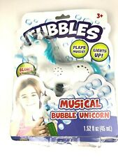 Fubbles Magical Unicorn Bubble Blaster with Lights & Music New Minor PKG Damage