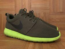 RARE🔥 Nike Roshe Run One Tarp Green Volt Deep Smoke Olive 13 511881-307 Iguana