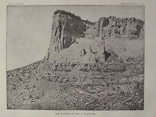 Site of Kia Kima Base of Taaaiyalana Thounder Maintain New Mexico 1891 Print