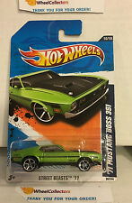 '71 Mustang Boss 351 #90 * Green * 2011 Hot Wheels * E29
