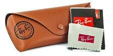 Ray Ban Sunglasses Case & lente a Cloth & Papers Marrone 15cm x 2.5cm x 6cm