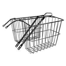 Wald Products #520 Rear Basket Basket Wald 520gb Twin Rr Med 13x6x11 Bk
