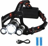 VicTsing Linterna Frontal Recargable LED Alta Potencia 8 Hora Camping Pesca Bici