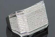 10K WHITE GOLD .50 CARAT MENS REAL DIAMOND ENGAGEMENT RING WEDDING PINKY RING