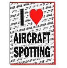 Tarjeta de felicitación-Tarjeta De Cumpleaños-me encanta aviones manchado