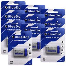 Quantity 10 ~ BlueDot 9 Volt 9V Alkaline Battery Batteries NEW ~EXP 2023!