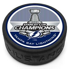 Tampa Bay Lightning 2021 Stanley Cup Champions 3D Textured Souvenir Hockey Puck