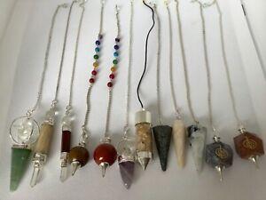 Wholesale Joblot Crystal Pendulums x 12. £4 each. Retail Value £120 - £144 n7