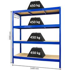 Stabiles Schwerlastregal - Tiefe 60 cm   450 kg pro Fachboden