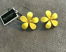 Juicy Couture Retro Style Daisy Yellow Clip On Earrings