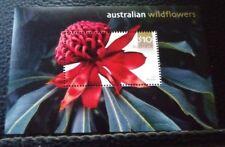 Australia 2493. MNH. Souvenir Waratah Flower. sal's stamp store.