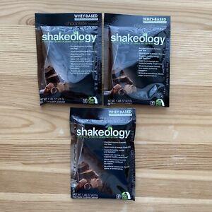 NEW SHAKEOLOGY Beachbody Individual Packets 3 Chocolate Whey