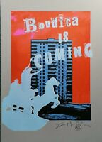 Jamie Reid vs Jimmy Cauty Artist Proof L-13, 26/35 Estate edit,Boudica is Coming