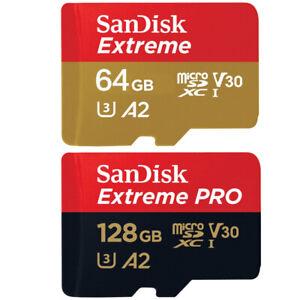 Sandisk Extreme Pro Micro SD Memory Cards - 32GB, 64GB, 128GB, 256GB MicroSD