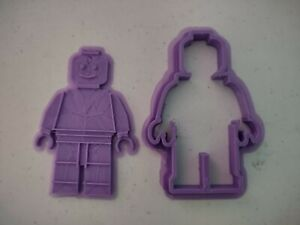 3 to 6 inch lego man bricks funny novelty Cookier and stamp