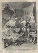 Stackhouse Bible - JACOB DECEIVETH HIS FATHER ISAAC - Copper Engraving - 1752