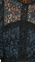ZARA MIDIKLEID SPITZE KLEID STICKEREI EMBROIDERED LACE MIDI DRESS SIZE M L XL