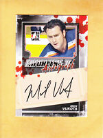 2013 14 ITG ENFORCERS II AUTO # A-MV MICK VUKOTA NEW YORK ISLANDERS