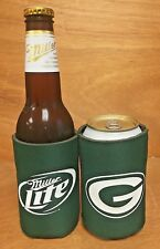Miller Lite Green Bay Packers NFL Beer Can Bottle Koozie - One (1) - New & F/S