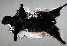 "New Goat hide Rug Hair on Area Rug Size 32""x18"" Animal Leather Goat Skin U-9580"