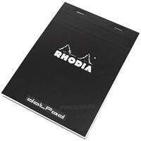 Rhodia A5 Dot Pad Black Staplebound #16 dotPad Matrix Grid Drawing Sketch Book