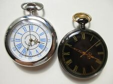 quartz - run and keep time Lot of 2 Modern Pocket watches -