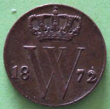 PAYS-BAS 1/2  CENT WILLEM I 1872
