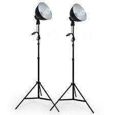 2x studio fotografico di luce illuminazione set lampada flash kit stativo nuovo