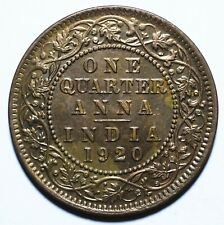 1920 India - British One Quarter 1/4 Anna - George V - Lot 886