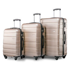 Merax Set of 3 Light Weight Hardshell 4 Wheel Travel Trolley Suitcase Luggage