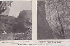 1912  --  LES BAS RELIEFS PREHISTORIQUES DE LAUSSEL   DORDOGNE   3F768