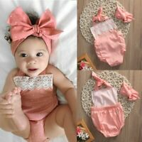 Twin#1 Twin#2 Circle Red Cotton Baby Girls Bodysuit Romper Jumpsuit 2PC NB-18M