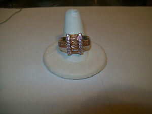 MANS BEAUTIFUL IMPERIAL TOPAZ DRESS RING SIZE 10