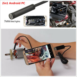 10M 7mm Android PC HD Endoscope Snake Borescope USB Inspection Camera  For Cars