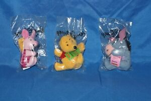 2001 Kellogg's Mini Bean Eeyore, Winnie the Pooh, and Piglet Unopened