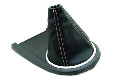 Fits 03-08 Hyundai Tiburon Synthetic Leather Manual Shift Boot Beige Stitch